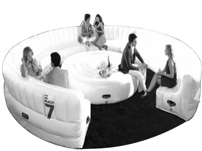 Eco-friendly PVC Inflatable Water Sofa Bed , Advertising Inflatable Floating Sofa