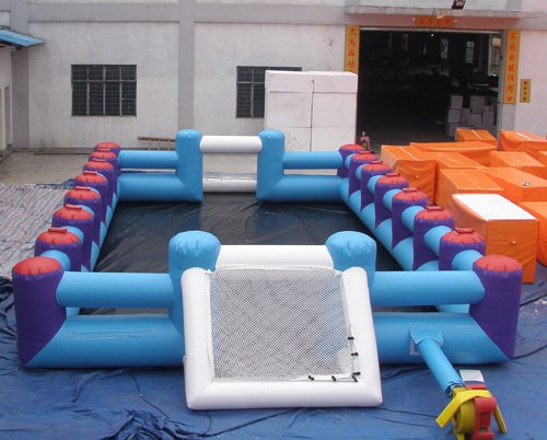 Large Scale Inflatable Soccer Filed , Inflatable Amusement Park Playground