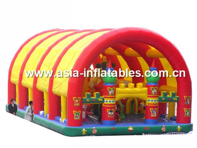 Inflatable Funland With  Octopus For Children Amusement Games