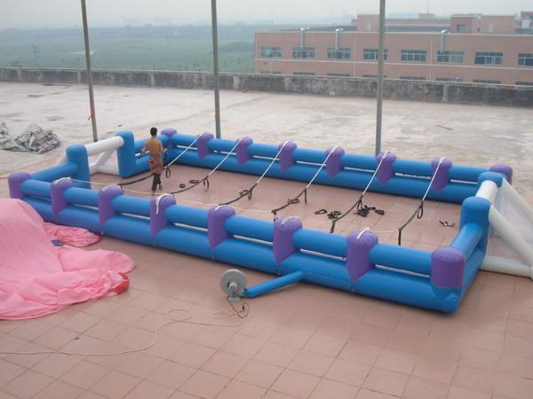 Portable Large Inflatable Soccer Pitch For Commercial Use , Inflatable Soccer Field