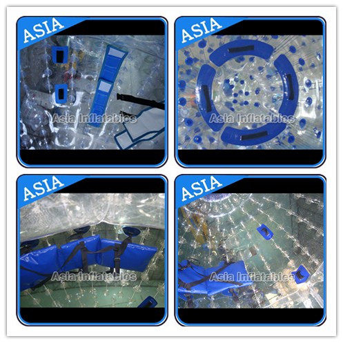 Clear PVC / TPU Inflatable Zorb Ball with 3m Outer Diameter For Adults