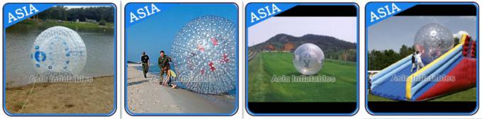 Grass Used One Entrance Zorb Water Ball In 0.8mm Pvc For Rental Business