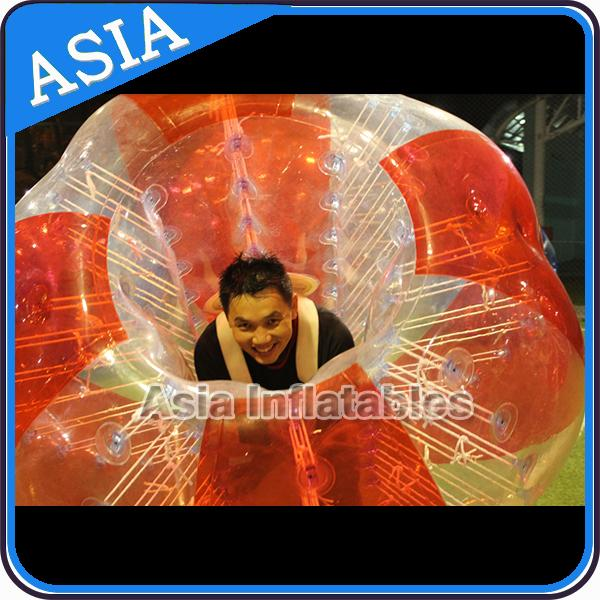 100% PVC Inflatable Bumper Ball ,  Half Red Bubble Soccer , Loopy Balls , Soccer Bubble Balls