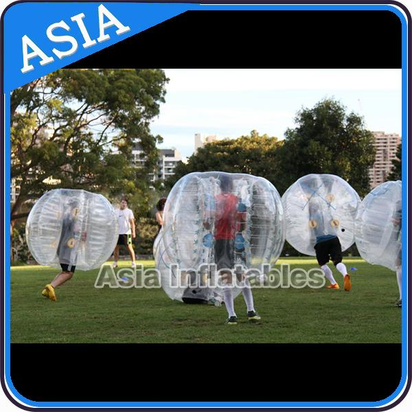 Colorful dot inflatable human bubble soccer , Body zorbing ball , Outdoor loopyball