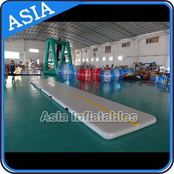 Rectangle Shape Gym Sport  Inflatable Tumble Track In 20cm For Cheerleading