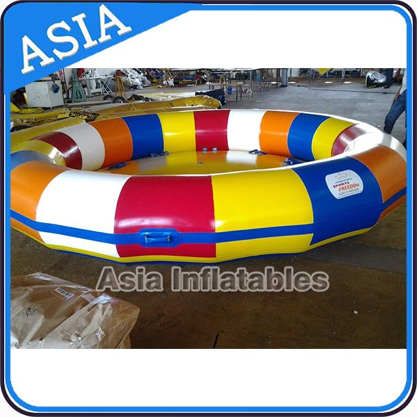 UL Approval 4m Floating Spin Inflatable Boats / Water Discoboat For Water Game
