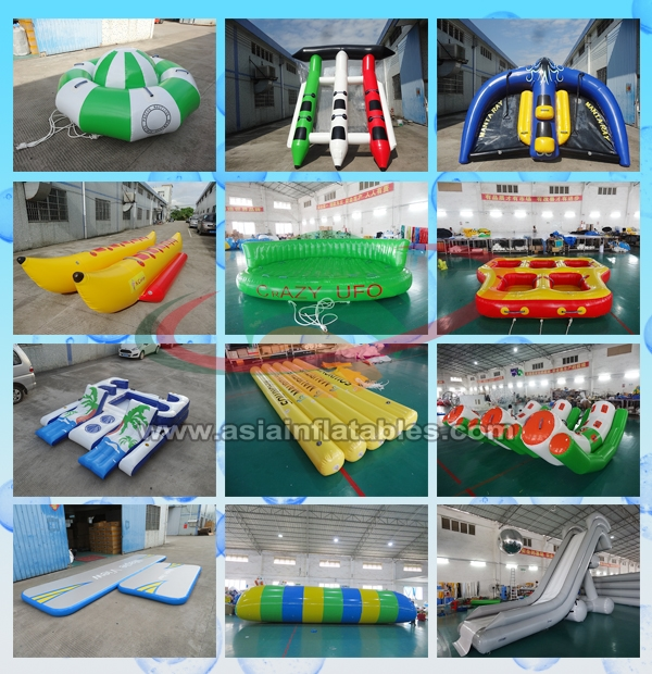 Commercial Water Games Inflatable Crocodile Water Trampoline With 0.9mm Pvc Tarpaulin