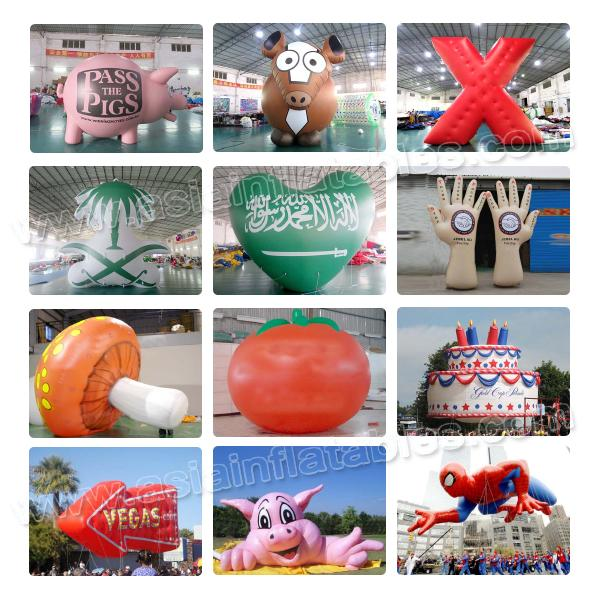 Inflatable Car Balloon Advertising Mode , Customized Cartoon helium balloon