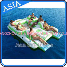 چین Capacity 6 Persons Inflatable Island Floating Lounge Inflatable Water Lounge کارخانه