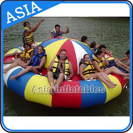 چین Fireproof 3m Inflatable Disco Boat With 8 Seats Pvc Inflatable Water Games کارخانه