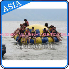 چین Hot Welding Yellow 12 Person Inflatable Disco Boat For Towable Water Games کارخانه