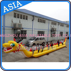 چین Yellow Dragon Banana Shaped Inflatable Boats 12 Person Water Sport Games For Adult کارخانه
