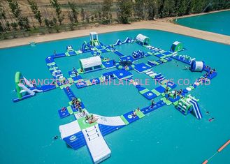 چین Open Water Inflatable Aqutic Sports Park With 0.9mm PVC Tarpaulin کارخانه