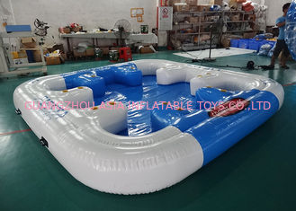 چین 6 Person Floating Island , Inflatable Island Rafts For River and Ocean کارخانه