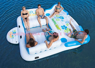 چین Large Inflatable Floating Island , Inflatable Lounge Water Floating Games For Leisure کارخانه