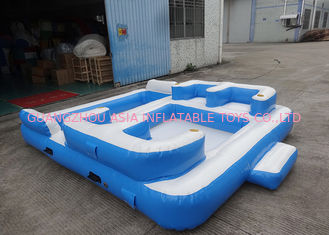 چین Entermainment 6 Person Inflatable Floating Island , Inflatable Shock Rocker کارخانه