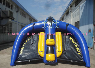 Commercial Grade PVC Inflatable Manta Ray Towable Tube OEM For Water Sport