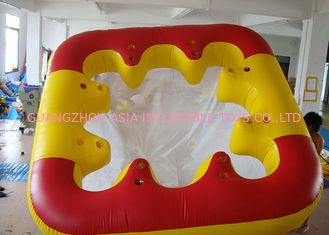 چین Water Proof Fiesta Inflatable Floating Island , Family Inflatable Boat کارخانه