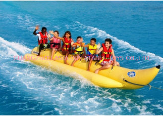6 - 8 Riders Banana Boat Towable Inflatables For Beach , Lake Water Exciting Games