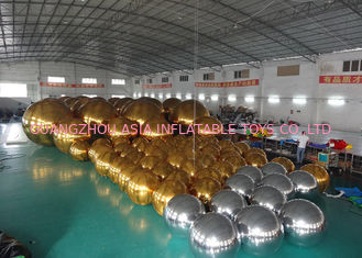 چین Outdoor Live Concert Advertising Inflatables Decoration Sliver Reflect Inflatable Mirror Balloon کارخانه