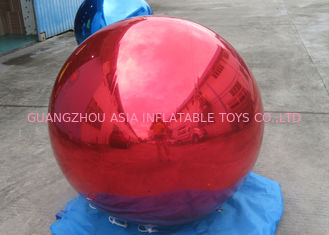 چین Helium Advertising Inflatables Red Mirror Balloon For Building Decoration کارخانه
