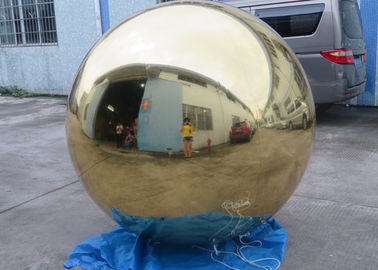 چین Inflatable Gold Mirror Balloon With Reflection Effect For Decoration On The Floor کارخانه