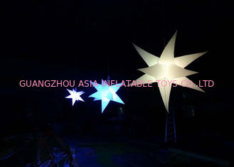 چین Bright Inflatable LED Lighting Hanging Christmas Star for sale کارخانه