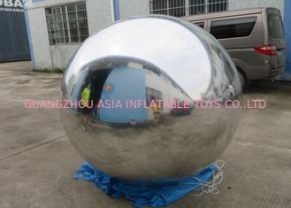 چین 2m Silver Helium Balloon And Blimps Stage Decoration Ball For Fashion Show کارخانه