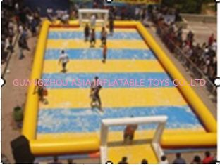 چین Customized Excellent Inflatable Water Soccer Field / Sports Inflatable Yellow Soccer Field کارخانه