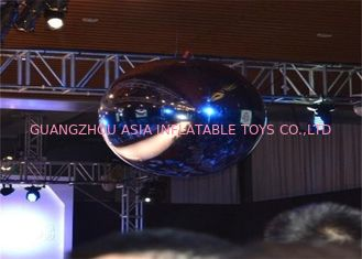چین Advertising Mirror Helium Balloon And Silver Mirror Ball Inflatable For Party کارخانه