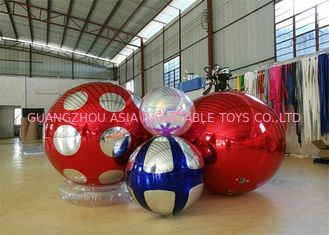 چین Stage Customized Advertising Fireproof Inflatable Mirror Ball For Christmas Decoration کارخانه