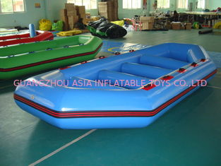 چین 3.2m Long PVC tarpaulin Blue Color Inflatable Boat for 8 Persons کارخانه