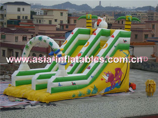 Hot Sale Inflatable Double Lane Slide In Cartoon Theme For Kids