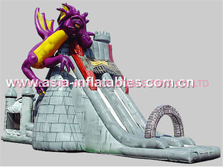 Creative Inflatable Slide In Dragon And Castle Theme For Children Outdoor Games