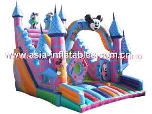 Hot Sale Inflatable Mickey Mouse Slide With Castle For Children Park
