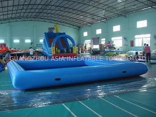 Customize Made Kids Inflatable Pool Water Park with Slide for Fun