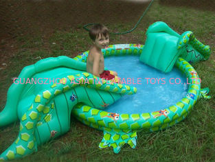 Small Water Park Kids Inflatable Pool with Animal for Backyard Play