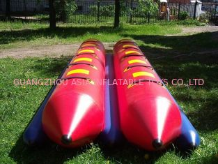 چین Inflatable Dual Tube Banana Boat, Inflatable Tube Boat For Water Sports کارخانه