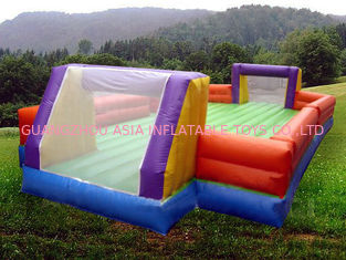 چین Ce Inflatable Soccer Arena Court For Outside Use , Inflatable Soccer Field For Outside کارخانه