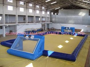 چین commercial inflatable soccer field / soccer pitch for outdoor soccer games کارخانه