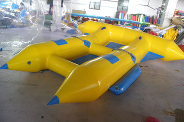 چین Customize Inflatable Flying Fish Boat for 4 Rides Ocean Adventure Sport کارخانه