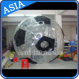 Football Shape Inflatable Zorb Ball , Zorbing Ball Used On The Sea