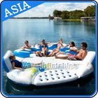 0.9mm Durable PVC Tarpaulin Inflatable Island Floating Lounge تامین کننده