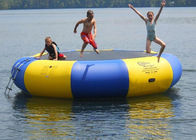 4m bule and yellow water trampoline, inflatable water games trampoline تامین کننده