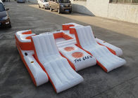 Orange 0.9mm PVC Tarpaulin Inflatable Floating Island For Water Sports تامین کننده