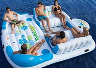 Large Inflatable Floating Island , Inflatable Lounge Water Floating Games For Leisure تامین کننده