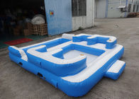 Entermainment 6 Person Inflatable Floating Island , Inflatable Shock Rocker تامین کننده