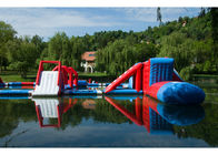 Lake Big Floating Aqua Park / Inflatable Obstacle Course For Business تامین کننده