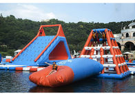 0.6 - 0.9mm PVC Inflatable Floating Water Park With Printing Logo تامین کننده