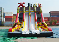 چین Ice Age Theme Inflatable Slide Rental Double Slide With Palm Tree / Inflatable Ice Age Slide کارخانه